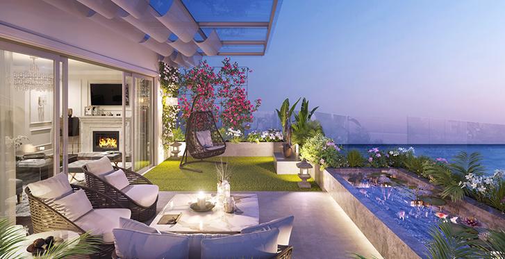 """Phối cảnh minh họa """"Vườn trên không""""Sky Villa"""